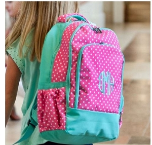 Monogramed Dotted Back Pack