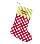 Monogrammed Dottie Christmas Stocking