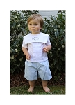 Monogrammed Infant/Toddler Collared Shirt and Shorts Set
