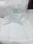 Monogrammed Hemstitch Linen Baby Dress