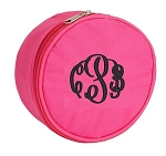 Monogrammed Hot Pink  Jewelry Case