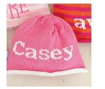 Monogrammed Custom Knit Cap -Baby and Child Sizes