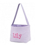Personalized Lavender Seersucker Easter Bucket