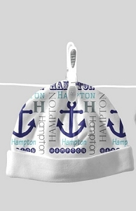 Adorable Baby Beanie with Anchor Design