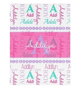 Adorable Minky Name and nickname Baby Blanket
