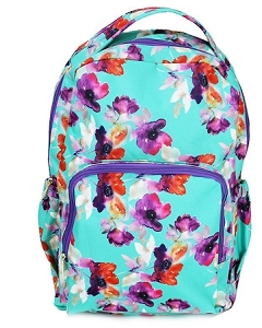 Personalized Mary Square Floral Backpack