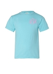 Monogrammed Youth Size Comfort Colors T-Shirt