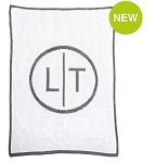 Monogrammed Newlywed Intials Knit Blanket
