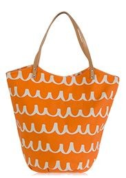 Personalized Orange Scribble Tote Bag