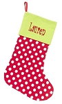 Monogrammed Red Polka Dot Stocking
