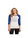 Printed Monogram Raglan T-Shirt Royal Blue