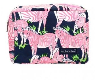 Simply Southern Pink Zebra Cosmetic bag