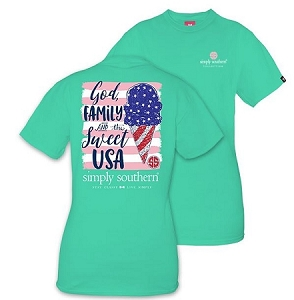Simply Southern God Family & Sweet USA T-Shirt