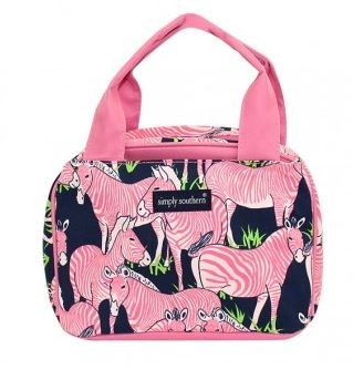Simply Southern Pink Zebra Lunch box
