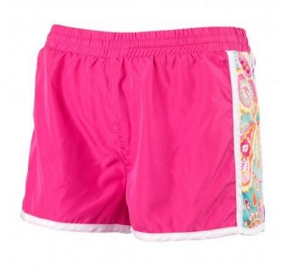 Monogrammed Paisley Active Wear Shorts