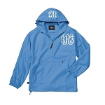 Monogrammed Ladies Carolina Blue Wind Breaker