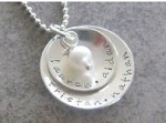 Personalized Two Dome Mother Necklace
