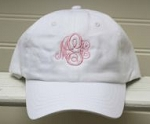 White Monogrammed Ball Cap