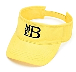 Monogrammed Ladies's Yellow Visor