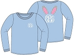 Monogrammed Youth Easter Bunny Icon Shirt