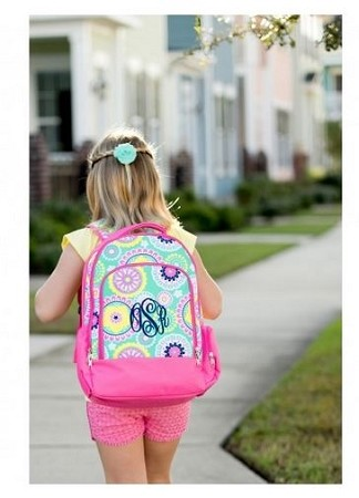 Monogrammed Piper Paisley Backpack