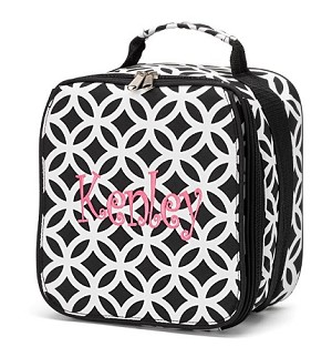 "Personalized ""Sadie"" Child's Lunchbox Black"