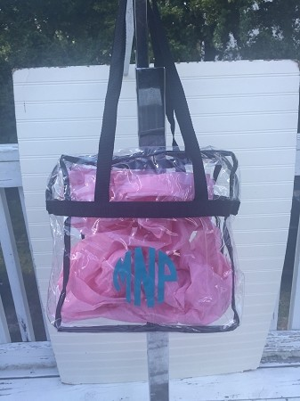 Personalized Stadium Approved Clear Handbag