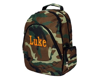 "Monogrammed ""Camo"" Backpack"