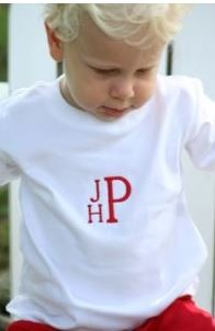 Personalized Child S T Shirt Fishtail Monogram
