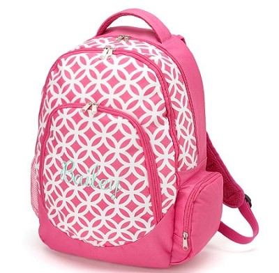 "Personalized ""Sadie"" Big Kid Size Backpack Pink"