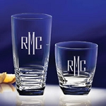 Monogrammed Koko Glass Barware