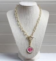 monogrammed necklace for women