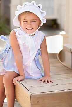 88fe5865813 Monogrammed White Baby Bonnet