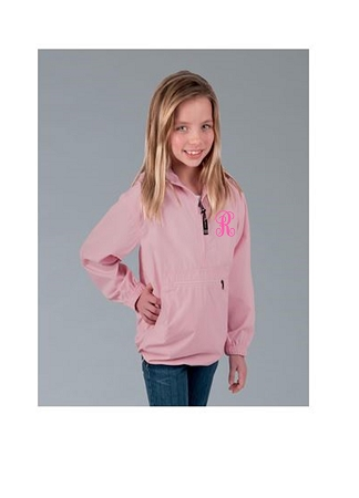 Monogrammed Youth Windbreaker Jacket