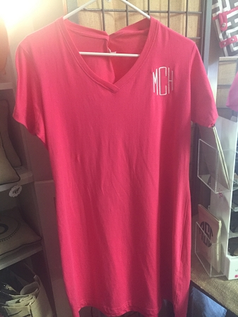 87a9fef42d Ladies Monogrammed Nightshirt