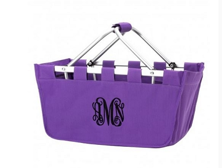 Personalized Purple Market Tote