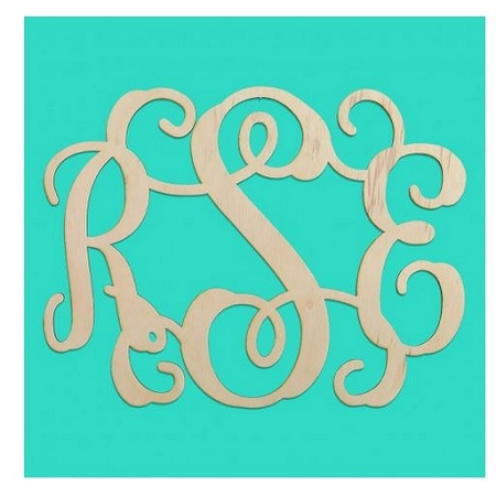 Birch Wooden Cutout Monogram