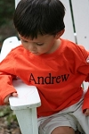 Personalized Child's Orange Shirt