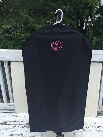 Monogrammed Nylon Garment Bag