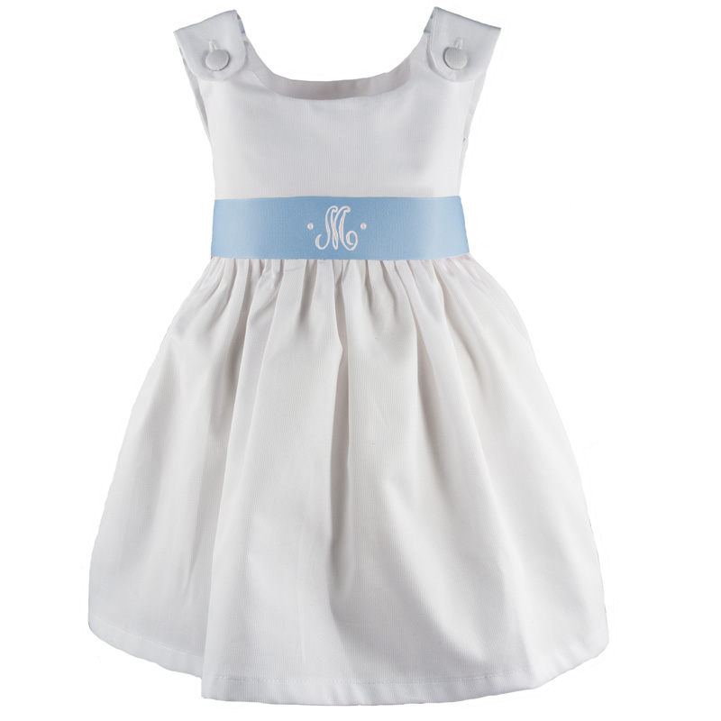 monogrammed flower girl dress