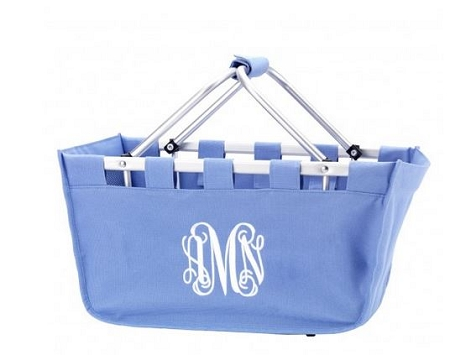 Personalized Periwinkle Blue Market Tote