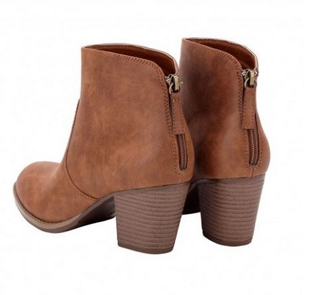 Monogrammed Brown Ankle Boots