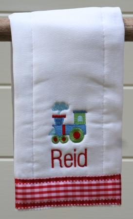 Personalized Train Burp Cloth