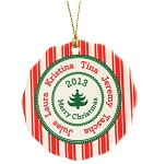 Personalized Candy Cane Family Tree Ornament