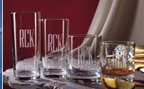 Monogrammed Casual Glass Barware