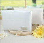 Personalized White Satin Guestbook