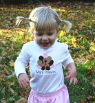 Child's Personalized Embroidered Thanksgiving Turkey Shirt