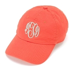 Coral Monogrammed Ball Cap