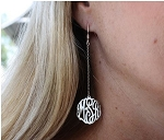 Monogrammed Drop Dangle Earrings