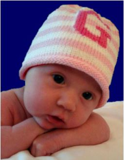 Monogrammed Stripes Custom Knit Cap -Baby and Child Sizes